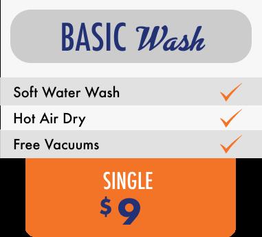 Basic wash $9